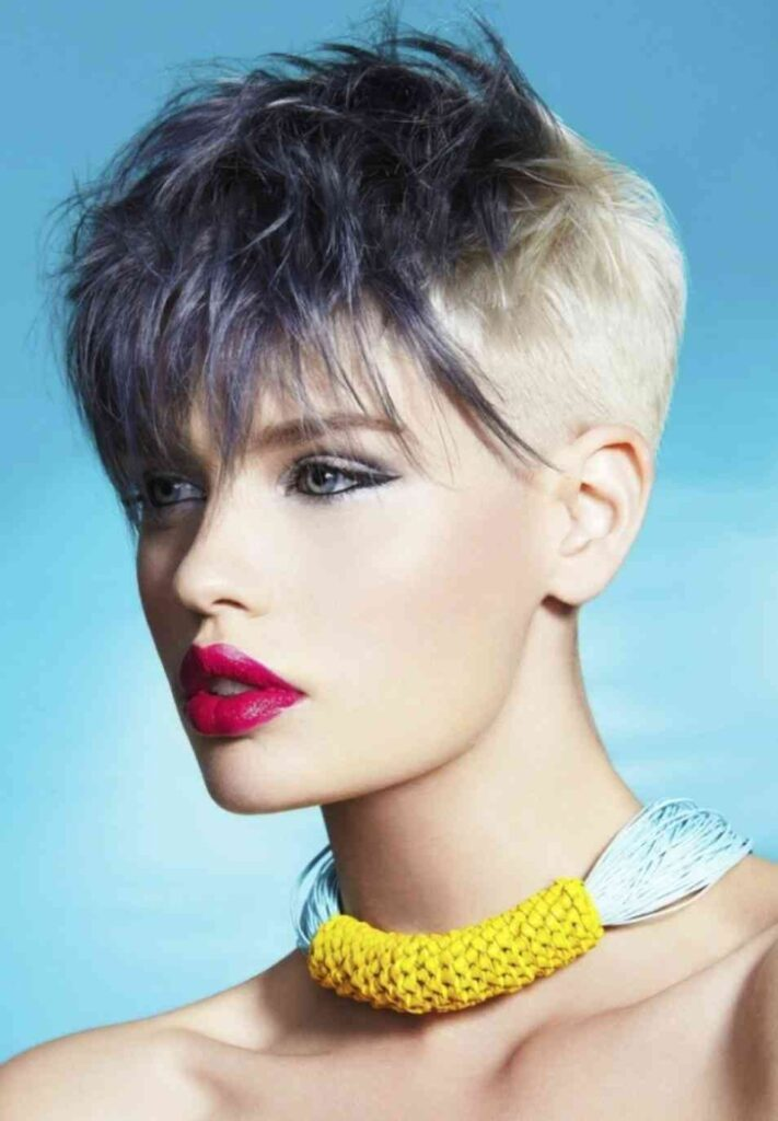 pixie cut with highlights