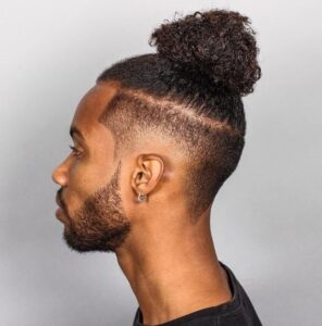 black man ponytail style
