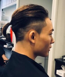 shaved side hairstyles for men