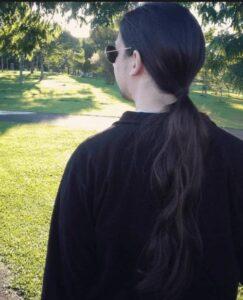 long hair ponytail men