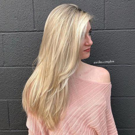 side swept for long thin hair