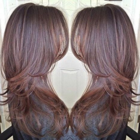 brunette hairstyles for long thin hair