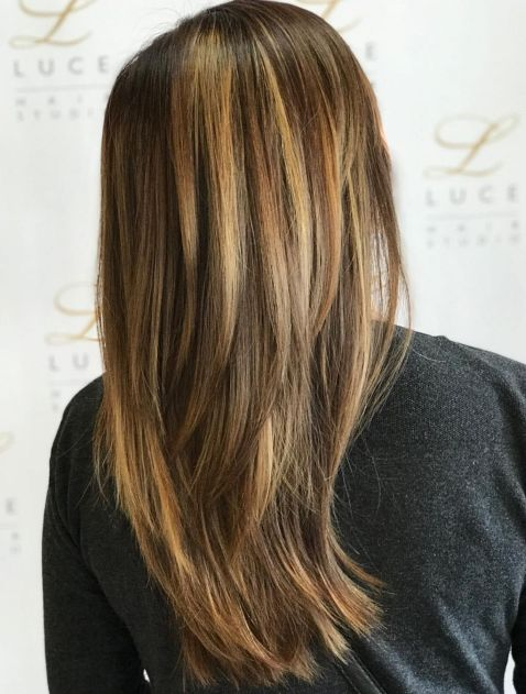 highlights hairstyle for long thin hair