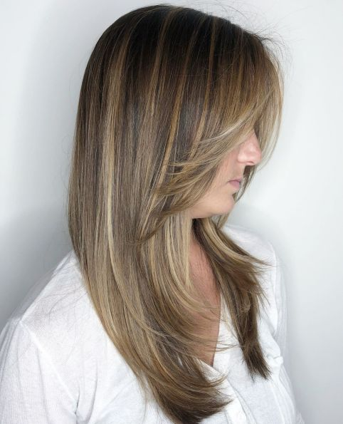 layers for long thin hair