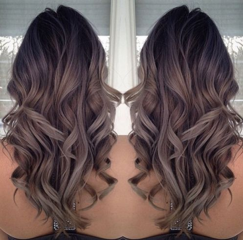 ombre hairstyle for long thin hair