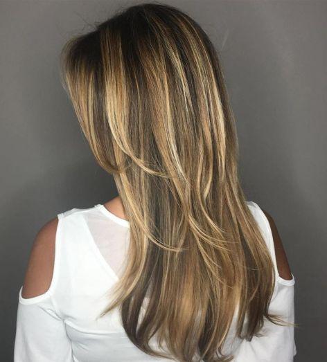 chunky highlights for long thin hair