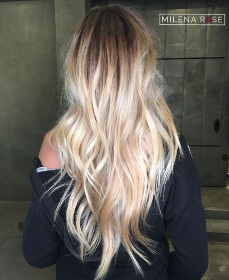 v shape hairstyle for long thin hair