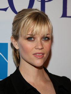 brow grazing fringe hairstyle for women