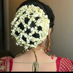 south indian bridal hairstyles front and back