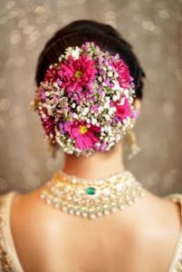 indian bridal hairstyles pictures for reception