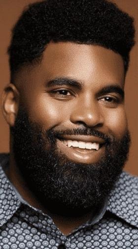 african american beard style for sensitive skin