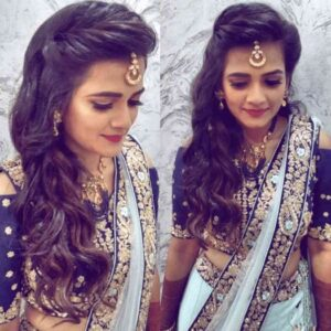 side swept hairstyles for indian wedding function