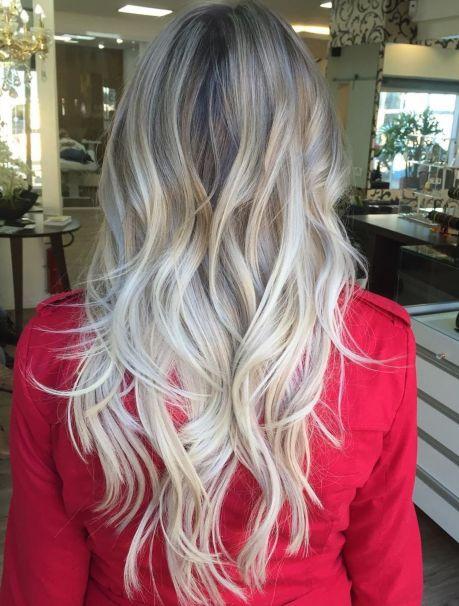 wavy choppy layers for long thin hair