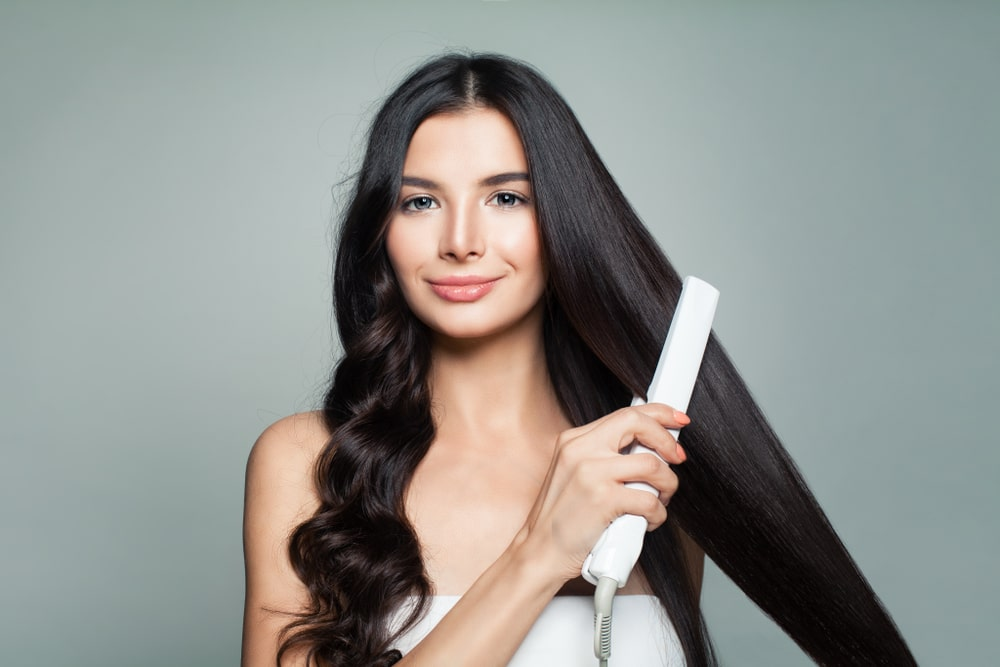 how to straighten hair with flat iron